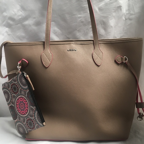 Lodis Bags 2 In 1 Bliss Beige Tote With Hand Purse Poshmark
